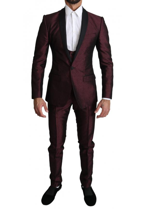 Maroon Single Breasted 3 Piece MARTINI  Suit