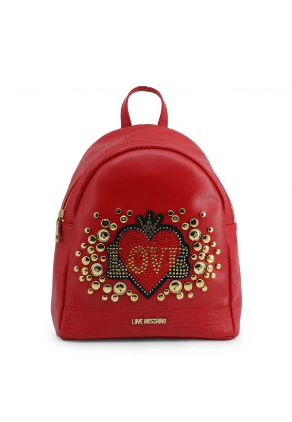 Love Moschino Studs Backpack-Red