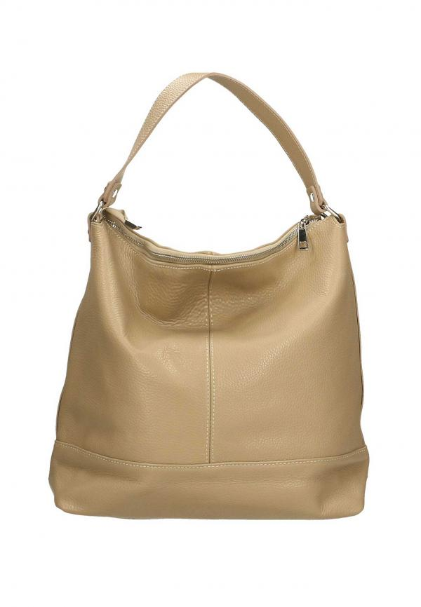 The Italian Factory Leather Shoulder Bags Taupe