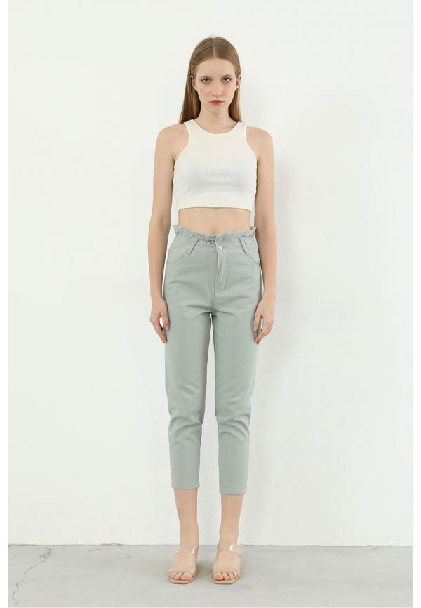 Articulated Wheel Jeans-Mint