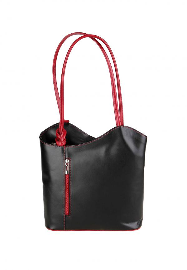The Italian Factory Leather Totes & Shoppers Black Red